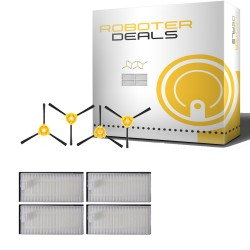 Zubehör Set, Zubehör Kit für Ecovacs Deebot D600, D601, D605 (Filter, Seitenbürste)