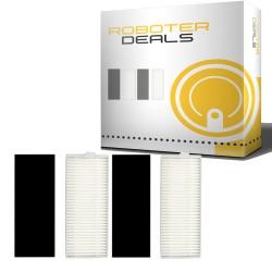 Feinstaub Filter mit Filterschutz (2 Stück) für ILIFE / ZACO A7 Staubsaugroboter