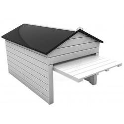 Echtholz Garage mit automatischen Tor (öffnet u. schließt automatisch)