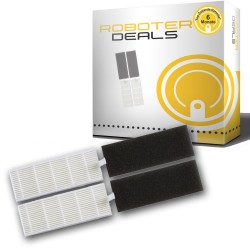 Feinstaub Filter mit Filterschutz (2 Stück) für Ecovacs Deebot DM82