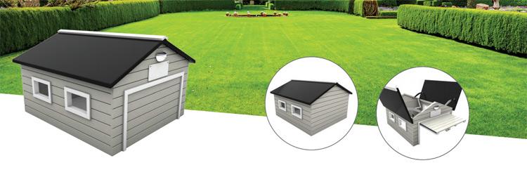 Garagen mit Tor für Rasenmähroboter